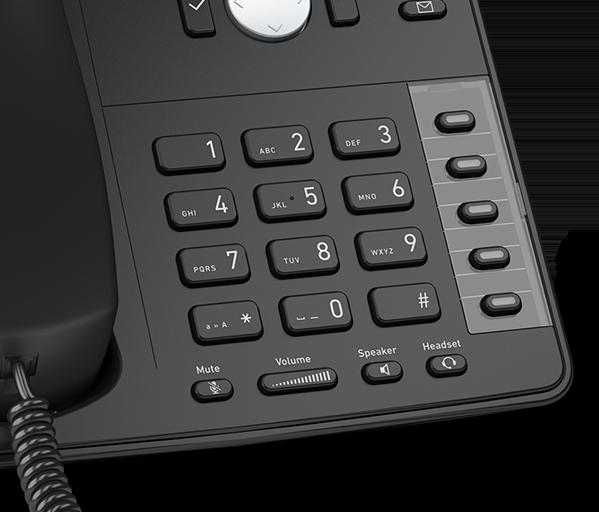 Telephone IP call center SNOM D715